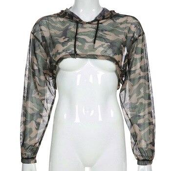 2020 Damen Neue Unregelmäßig Verkürzte Hip-Hop Tarnung  Jacke Frauen Casual Top jaqueta Y2k Hoody Crop Top Casaco Modell Set