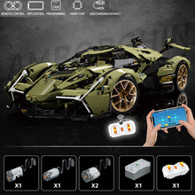 New MOC High-Tech RC Lambo V12 Vision GT Concept Bricks Sports Car Model Building Blocks Creative Fast Race Toys for Kids Gifts