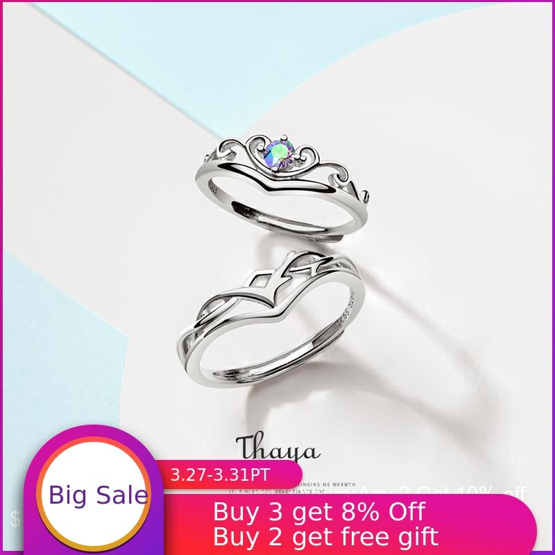 Thaya S925 Sterling Silver Rings Creative Design Fairy Fruit Rings Couple Ring For Wedding Engagement Gift Fine Jewelry