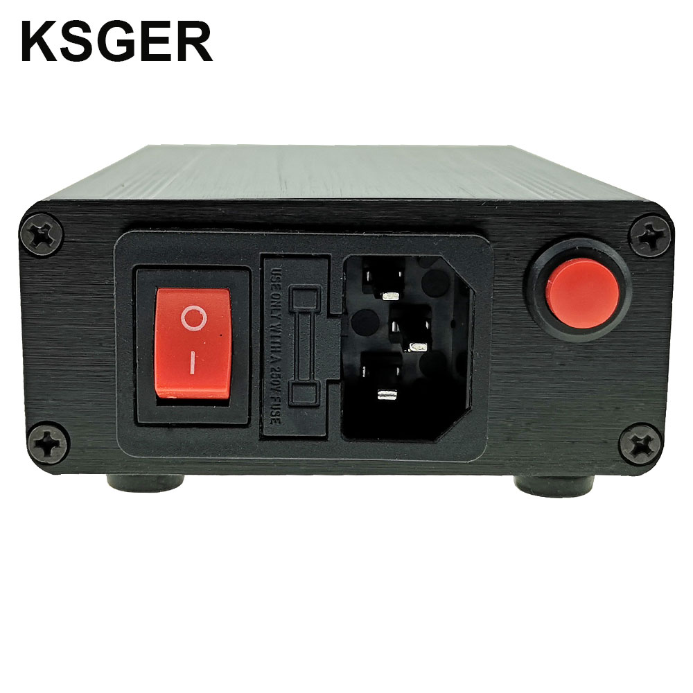 Image 5 - KSGER Hot Air Gun SMD Rework Station GX16 8 Solder Dryer Handle Electronic OLED T12 Nozzle Stand DIY Tools Quick Heating 700WElectric Soldering Irons   - AliExpress