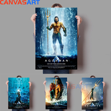 Canvas Art Pictures: Aquaman Painting Cuadros Decoracion Salon Wall Pictures for Living Room Anime Poster