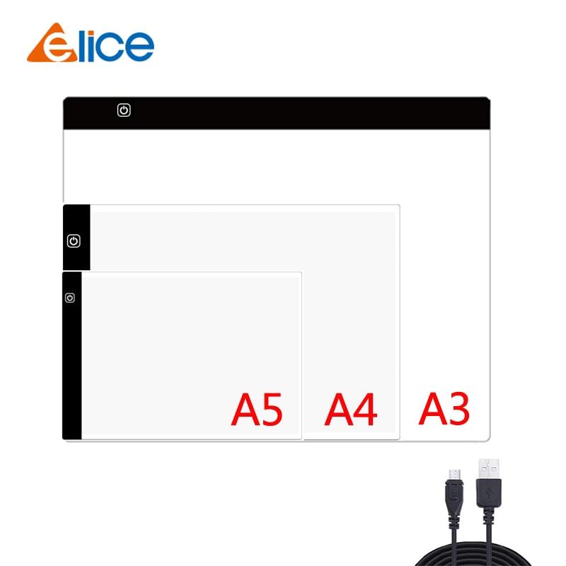 Планшет Elice A3 A4 A5 для рисования, доска для алмазной живописи, USB-планшет для копирования рисунков и набросков, led подсветильник ка