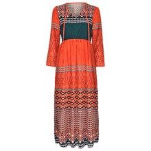 Women Dress 2019  Women's Plus Size Patchwork Long Sleeve O-neck Long Dress Maxi Dress   8.12 fashion women dress new halloween plus size hooded lace up patchwork long sleeve long dress