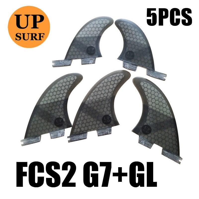 Ailerons de Surf FCS2 ailerons G7 + GL FCS II Tri fin set fibre de verre bleu, rouge, noir, vert couleur tri-quad ailerons