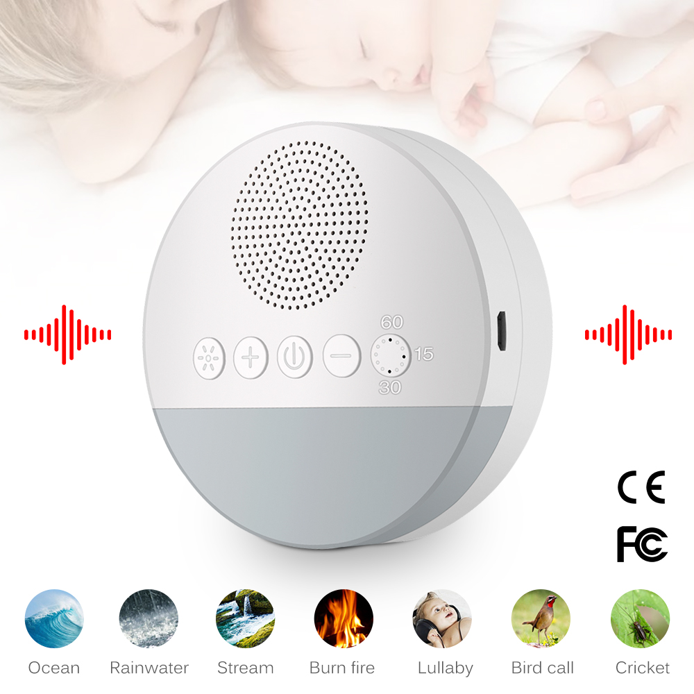 Baby Sleeping Relaxation Adult Office Travel White Noise Machine USB Rechargeable Timed Shutdown Sleep Sound Machine