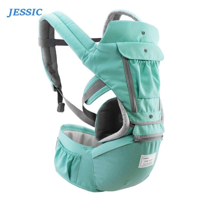 JESSIC Travel Carrier Infant Kid  Hipseat Sling Front Facing Kangaroo  Wrap Carrier For Baby Travel 0-36 Months Belt Bag