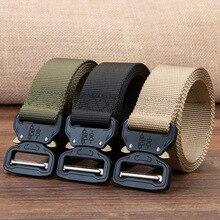 Тактический ремень нейлоновый ремень в стиле милитари для мужчин армейский стиль металлическая пряжка Cinturon качественный поясной ремень автоматический cinturones para hombre