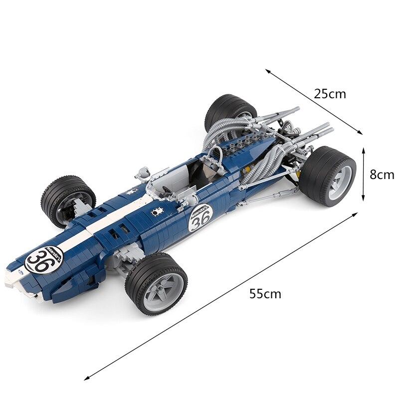 1758 pces carro de corrida blocos azul 05