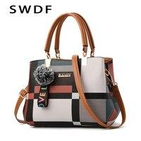 2019 Новая роскошная женская сумка с вышивкой, сумки-мессенджеры, дизайнерская брендовая клетчатая сумка через плечо, женские сумки через пле...