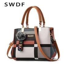 2020 새로운 럭셔리 핸드백 여성 야생 메신저 가방을 바느질 디자이너 브랜드 격자 무늬 숄더 가방 여성 숙녀 토트 Crossbody 가방