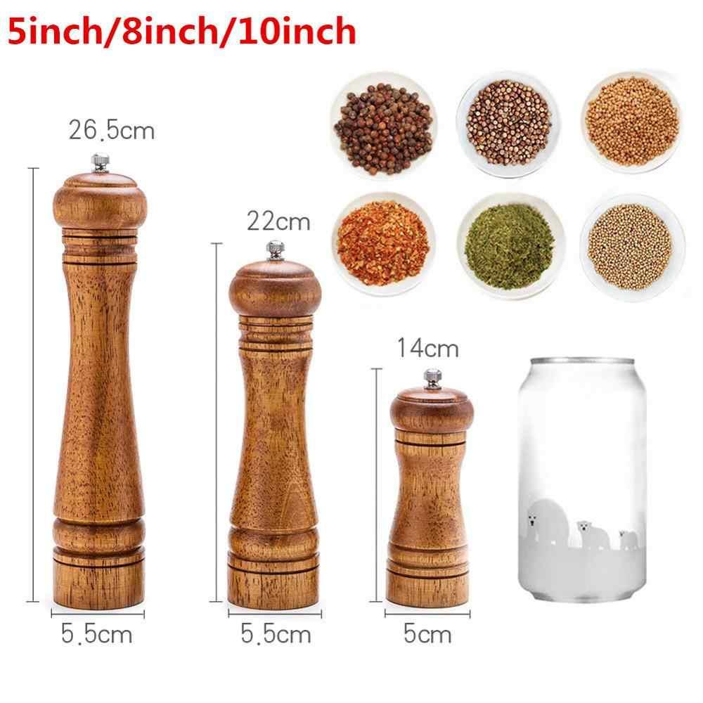 Salt and Pepper Mills Adjustable Ceramic Grinder Solid Wood Mill Kitchen Tools