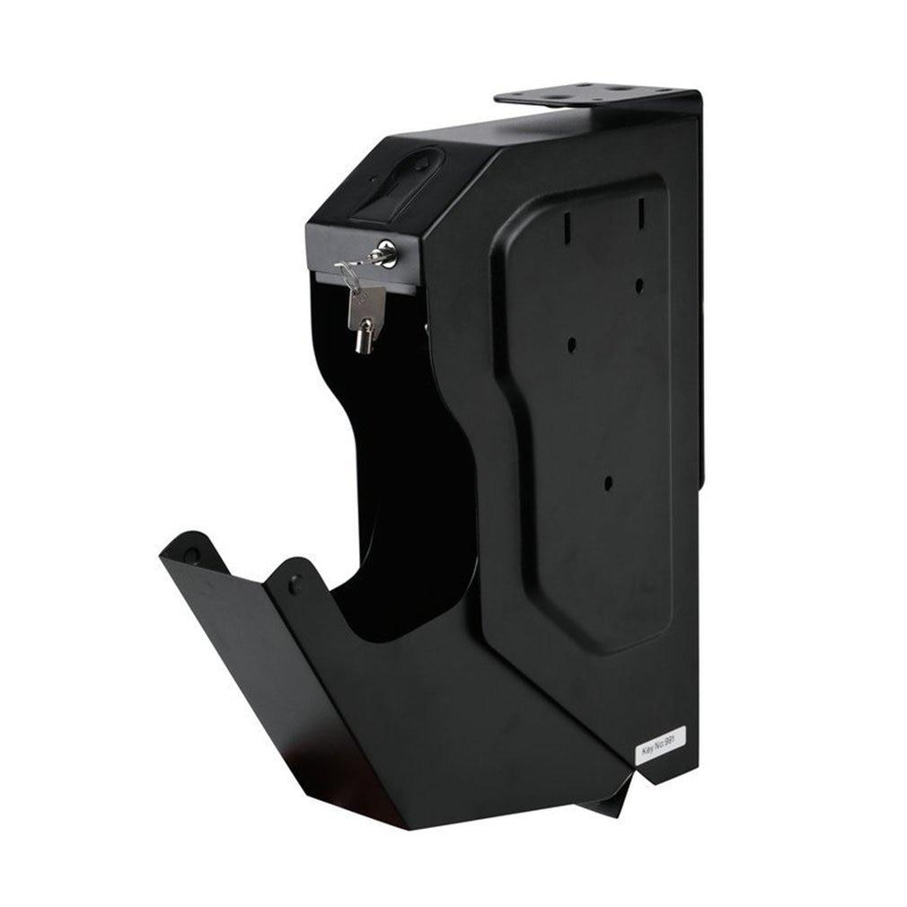 Biometric Fingerprint Safe Box Cold-rolled Steel Security Money Gun Secret Box Portable Key Valuables Jewelry Security Box
