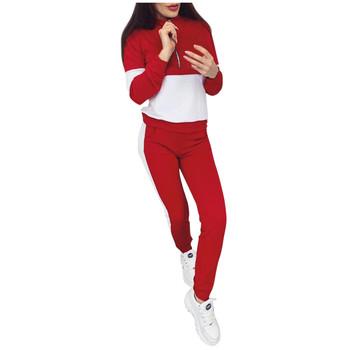 Damskie zestawy do jogi Sport Top + spodnie do jogi odzież fitness odzież sportowa kobiety strój do jogi odzież sportowa dla kobiet odzież sportowa #4 tanie i dobre opinie WOMEN Pasuje prawda na wymiar weź swój normalny rozmiar Flexible Poliester