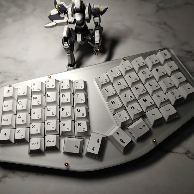 Minimalista Bianco Giapponese Keycaps per Keycap Tastiera Meccanica PBT Sublimazione Chiave Cap Cherry Profilo