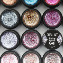 ROSALIND Hybrid Vernissen Gel Nagellak Set Glitter Platina Schilderij Nagels Art Poly UV Gellak Top Base Primer Voor Manicure(China)