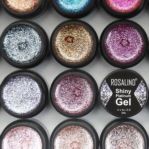 ROSALIND Hybrid Varnishes Gel Nail Polish Set Glitter Platinum Painting Nails Art Poly UV Gellak Top Base Primer For Manicure(China)