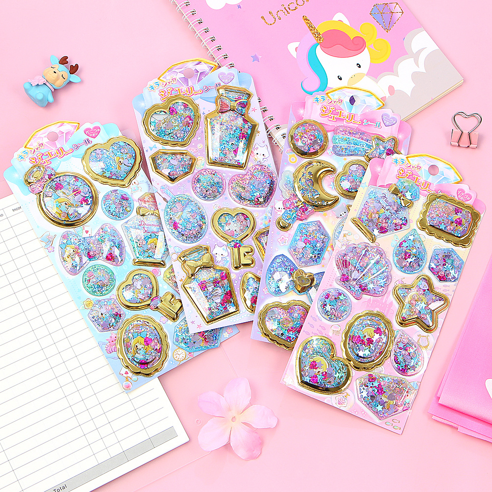 1set Kawaii Stationery Stickers Aroma Pearl Shake Diary Planner Decorative Mobile Stickers Scrapbooking DIY Craft Stickers