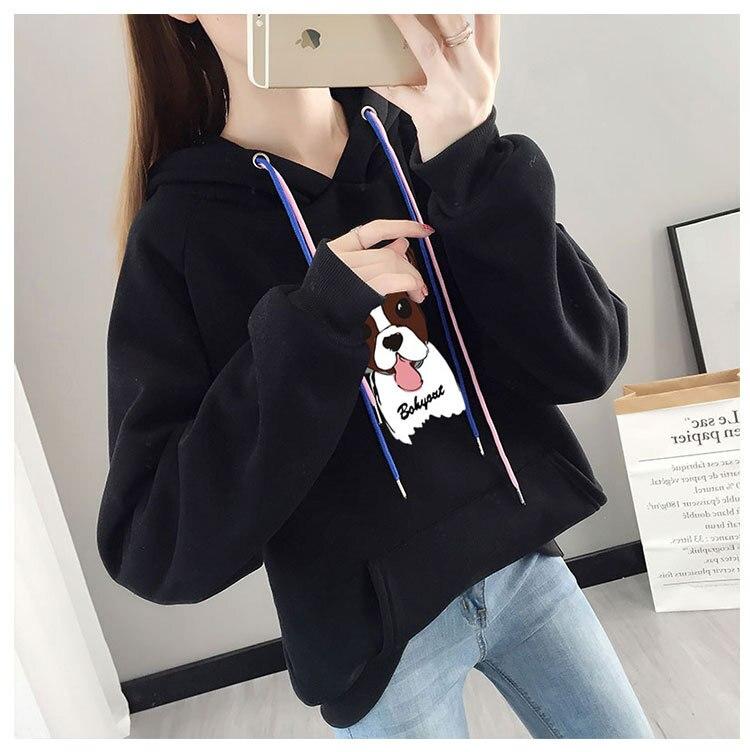 Long Sleeve Women Fashion Hoodie Sweatshirt Harajuku Jumper Hooded Pullover Tops Women Gray Hooded
