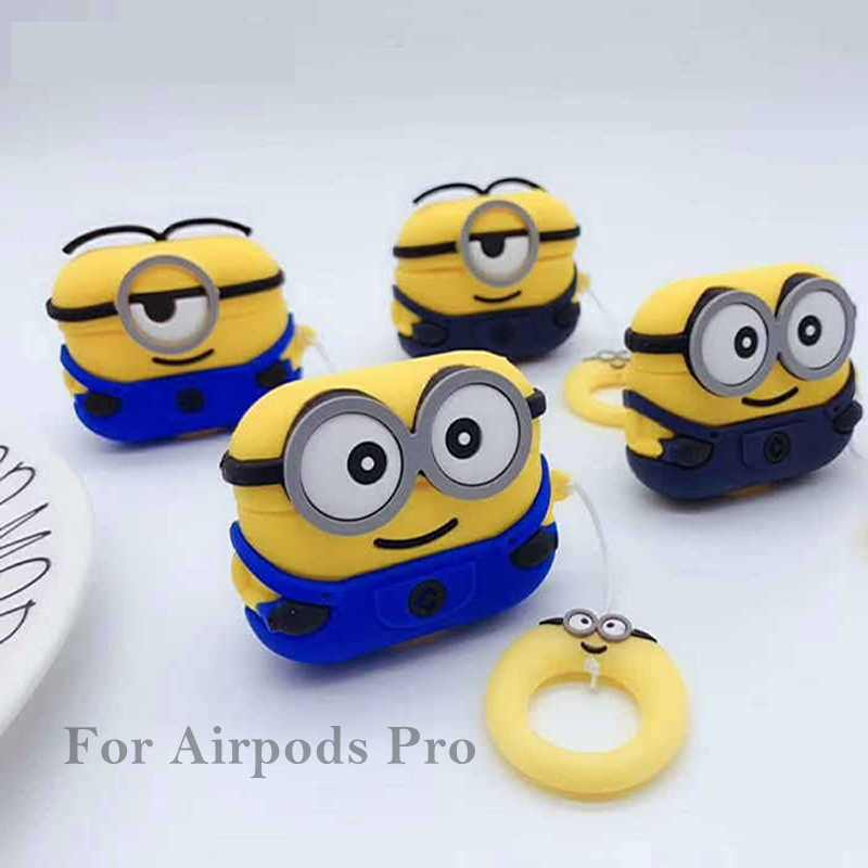 Loverony Cute Minions Silicone Case For Apple Airpods Pro