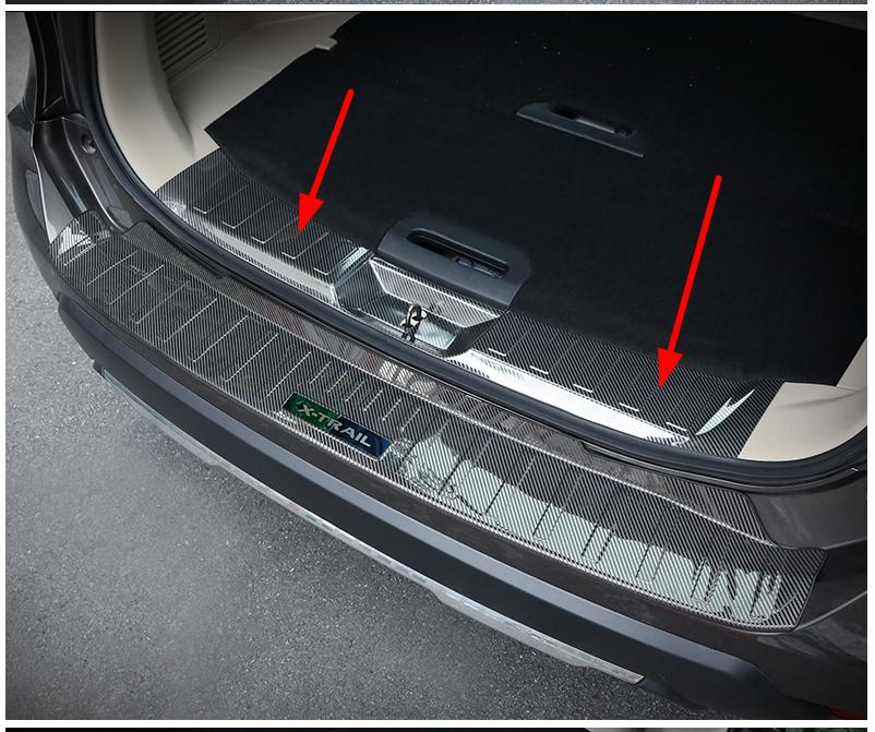 Stainless Steel Chrome Rear Bumper Sill Cover Protector Guard Trim for Nissan Rogue 2014-2020