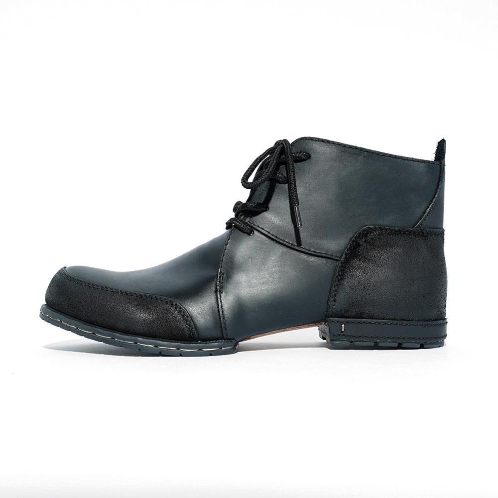 OTTO Top qualité bottes à la main rivet bottes d'hiver avec fourrure véritable cuir de vache chaussures de mode pour hommes livraison rapide gratuite-in Bottes de motocyclisme from Chaussures    3