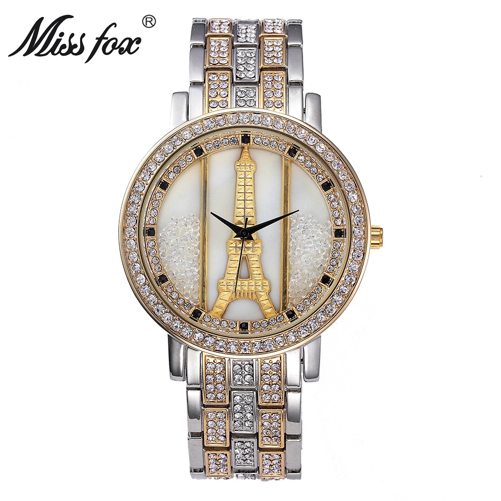 Fashion full diamond watch female model ladies luxury quartz