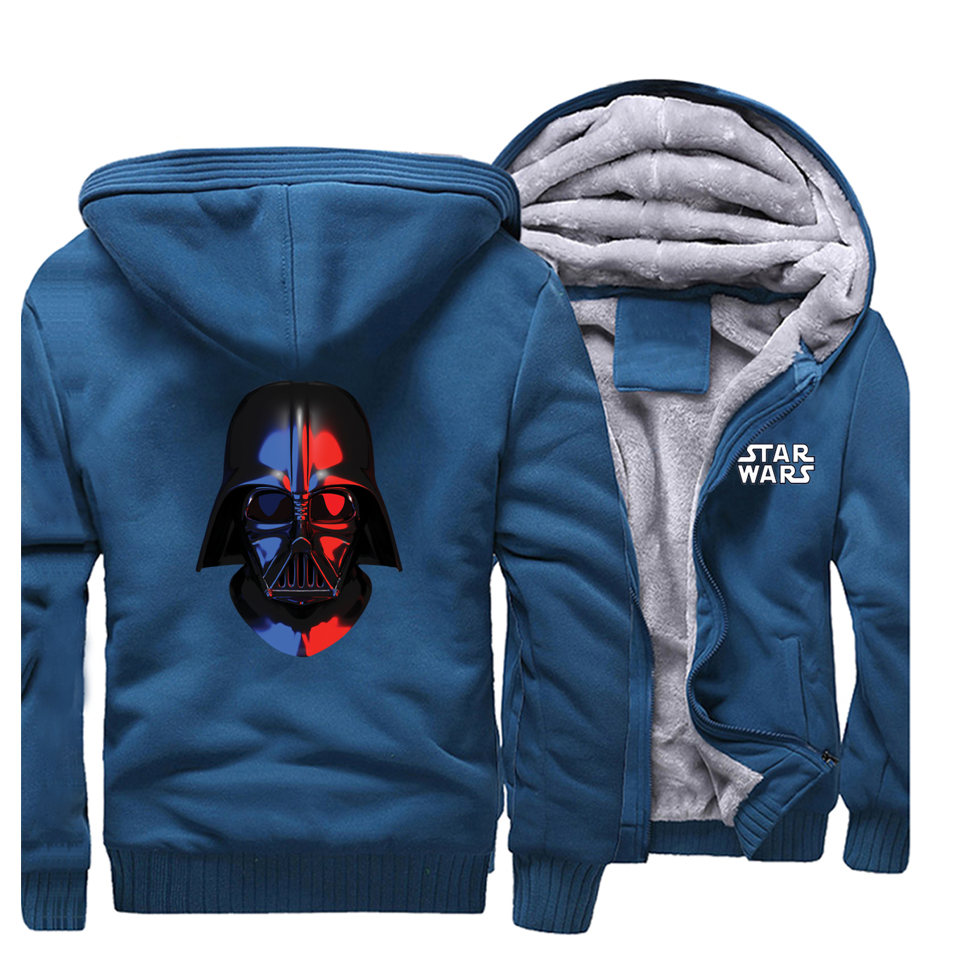 star wars Thick Hoodie Autumn Winter men Coat Funny novel Men's Sweatshirt Harajuku Hip Hop Jacket Darth Vader Streetwear Hoody image