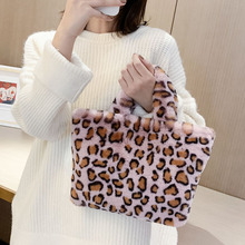 Fashion Women Large Capacity Shoulder Bag Chain Woman Plush Handbag Soft Ladies Premium Daily Zebra Pattern