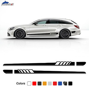 2 Pcs Edition 1 Door Side Stripes Skirt Sticker For Mercedes Benz CLS Class C257 C219 W219 C218 W218 X218 CLS63 AMG Accessories
