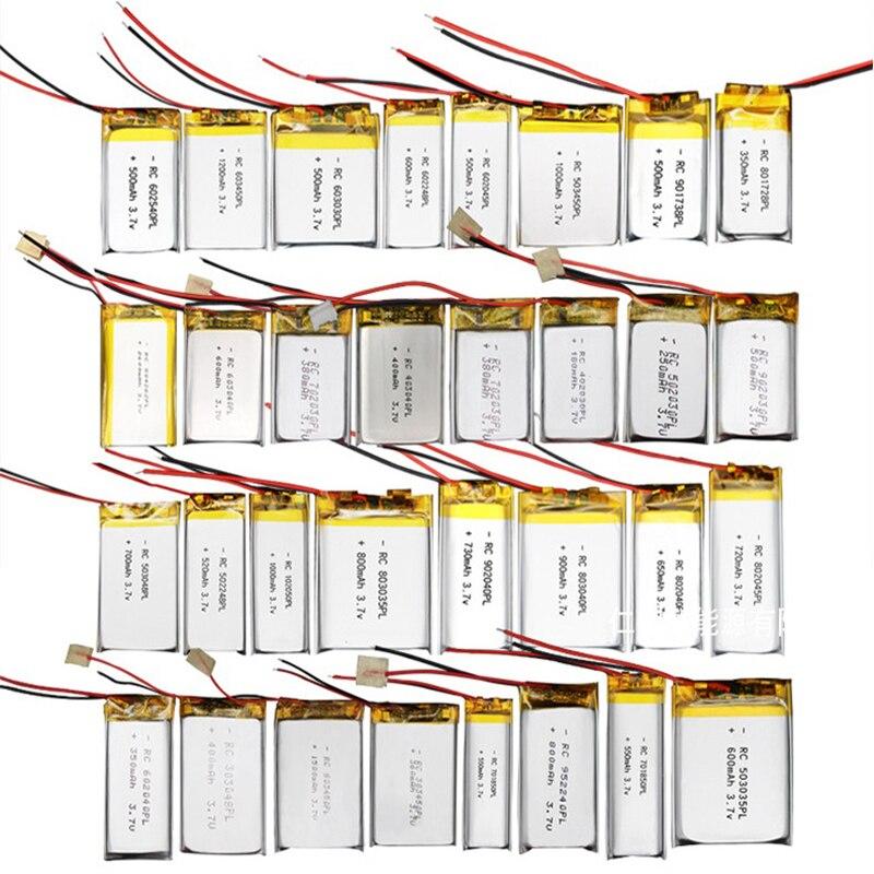 3.7V 1000mAh,1200mAh 1800mAh bateria de lítio polímero definido para o modelo modelo de avião de brinquedo Bluetooth produtos eletrônicos digitais de lítio ba