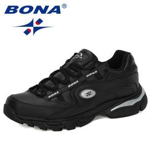 Image 3 - BONA Nuovo Popolare di Cuoio Azione Runningg Scarpe MenTrainers Sport Scarpe Uomo Zapatillas Hombre scarpe Da Tennis Allaperto Calzature Maschili