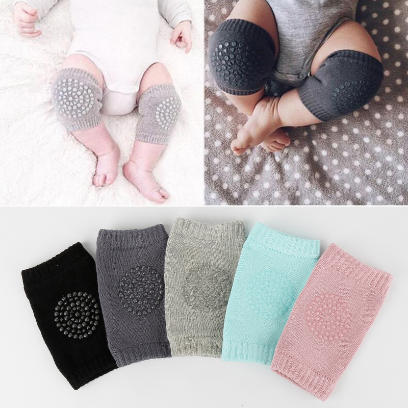 2PCS Babys Non-slip Baby Kneecap Summer Children's Cotton Knee Pad Baby Crawling Knee Pads Terry Thick Mesh Breathable