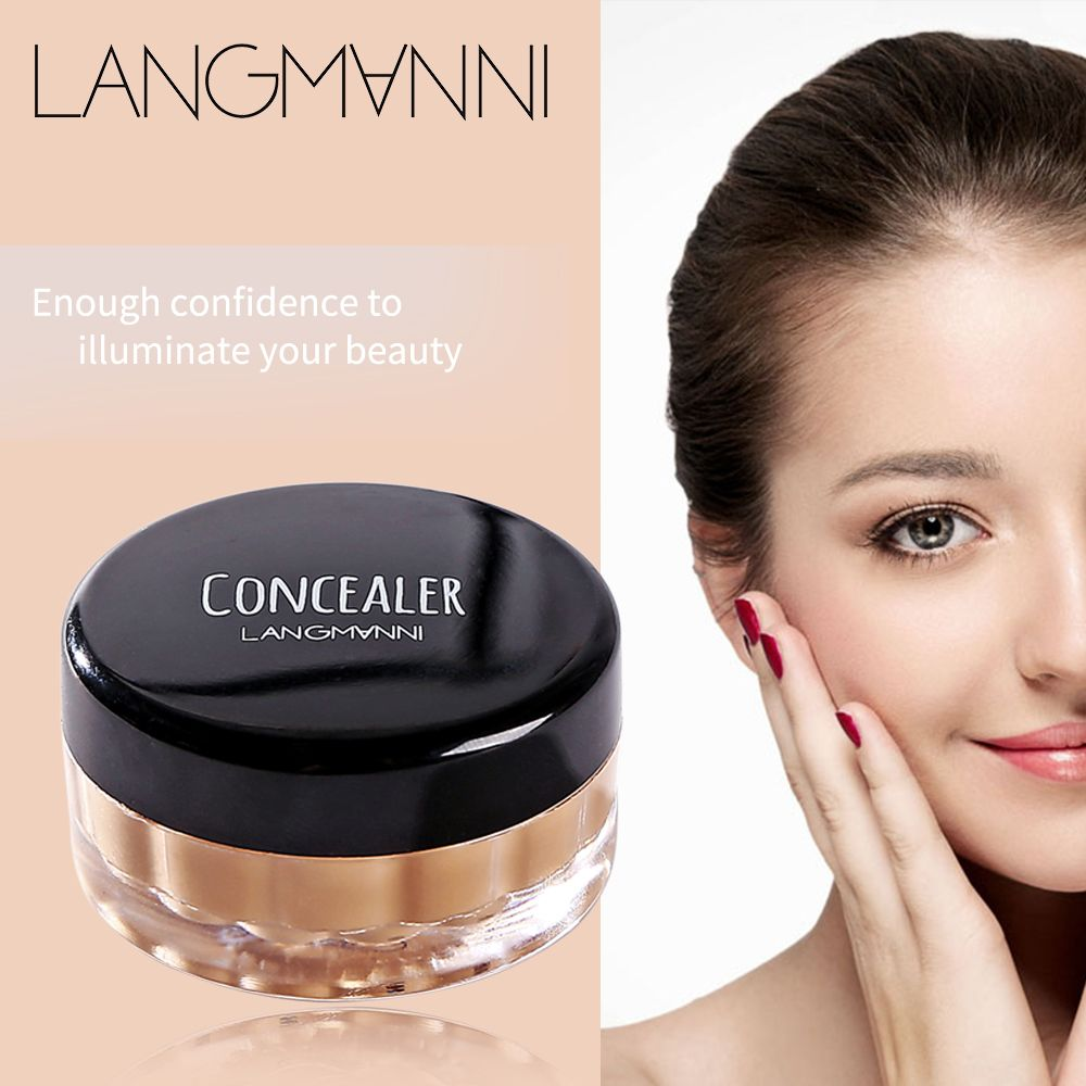 Langmanni 12ml/pcs Concealer Beauty Face Makeup Hide Blemish Make Concealer Stick Foundation Makeup Full Cover Base Cosmetics image