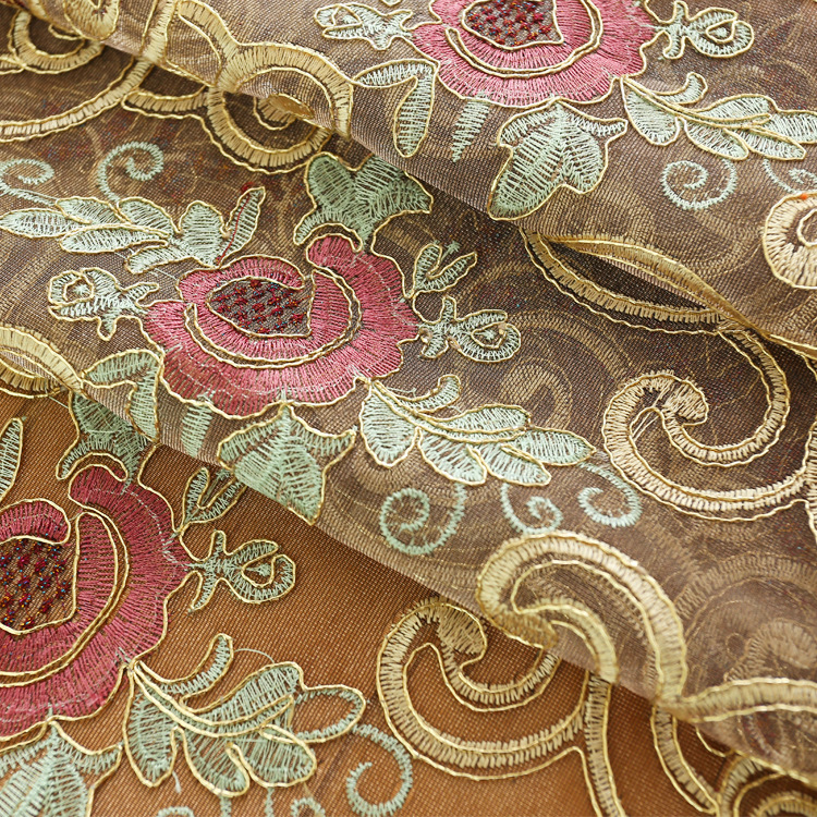 Image 5 - European style Upmarket chenille embroidered Pelmet Retro court  spun gold embroidery living room,valance,Additional purchaseCurtains