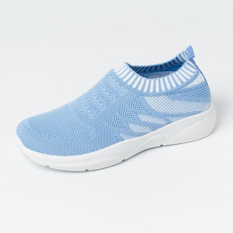 2020 Women Sneaker Soft Female Vulcanized Shoes Casual Air Mesh Slip On Ladies Flat Shoes Walking Footwear Dropping Shipping