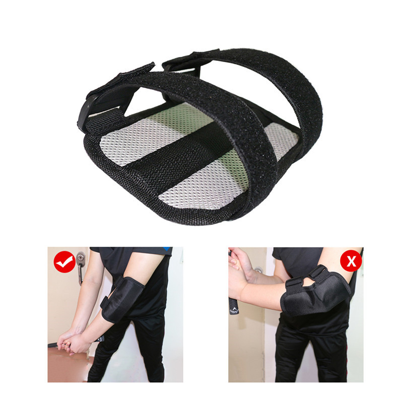 Golf Elbow Brace Arc Corrector Straight Practice Golf Swing Training Aids Arm Bending Alarm Accessories Sports
