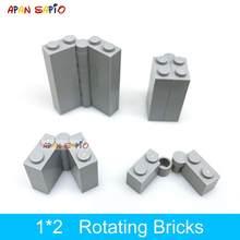 50 zestawów DIY klocki obrotowe cegły 1x2 kropki edukacyjne kreatywne plastikowe zabawki dla dzieci kompatybilne z markami 3830