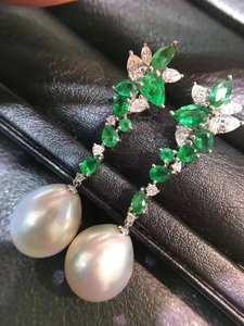 D115, чистое серебро 925 пробы, 11-9 мм, ювелирные украшения, пресноводный белый жемчуг, висячие серьги для женщин, прекрасные жемчужные серьги