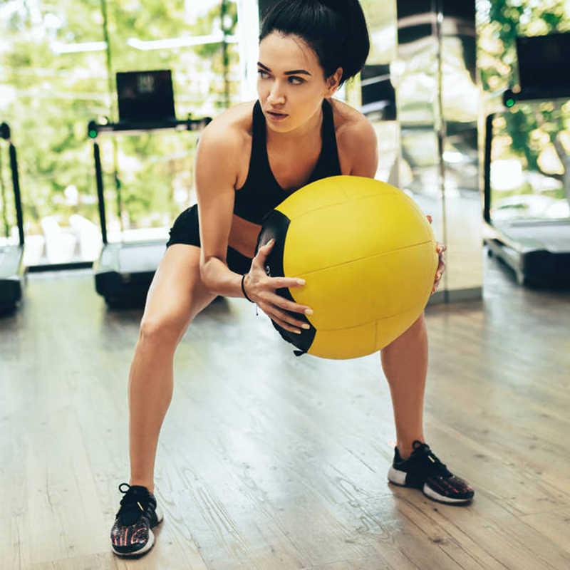 Mga resulta ng larawan para sa Crossfit Medicine Ball Home Fitness Wall Ball Exercise Weightlifting 35cm Empty
