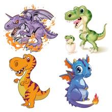 Conjunto de pegatinas dinosaurio para Ropa camiseta Diy decoracion nuevos Parches lavables A nivel H