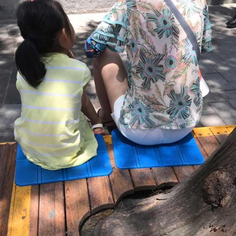 38.5*27.5cm XPE wodoodporna siedzisko piankowa podkładka Outdoor Camping składana mata krzesło składane piknik wilgoć szczelny materac mata plażowa Pad