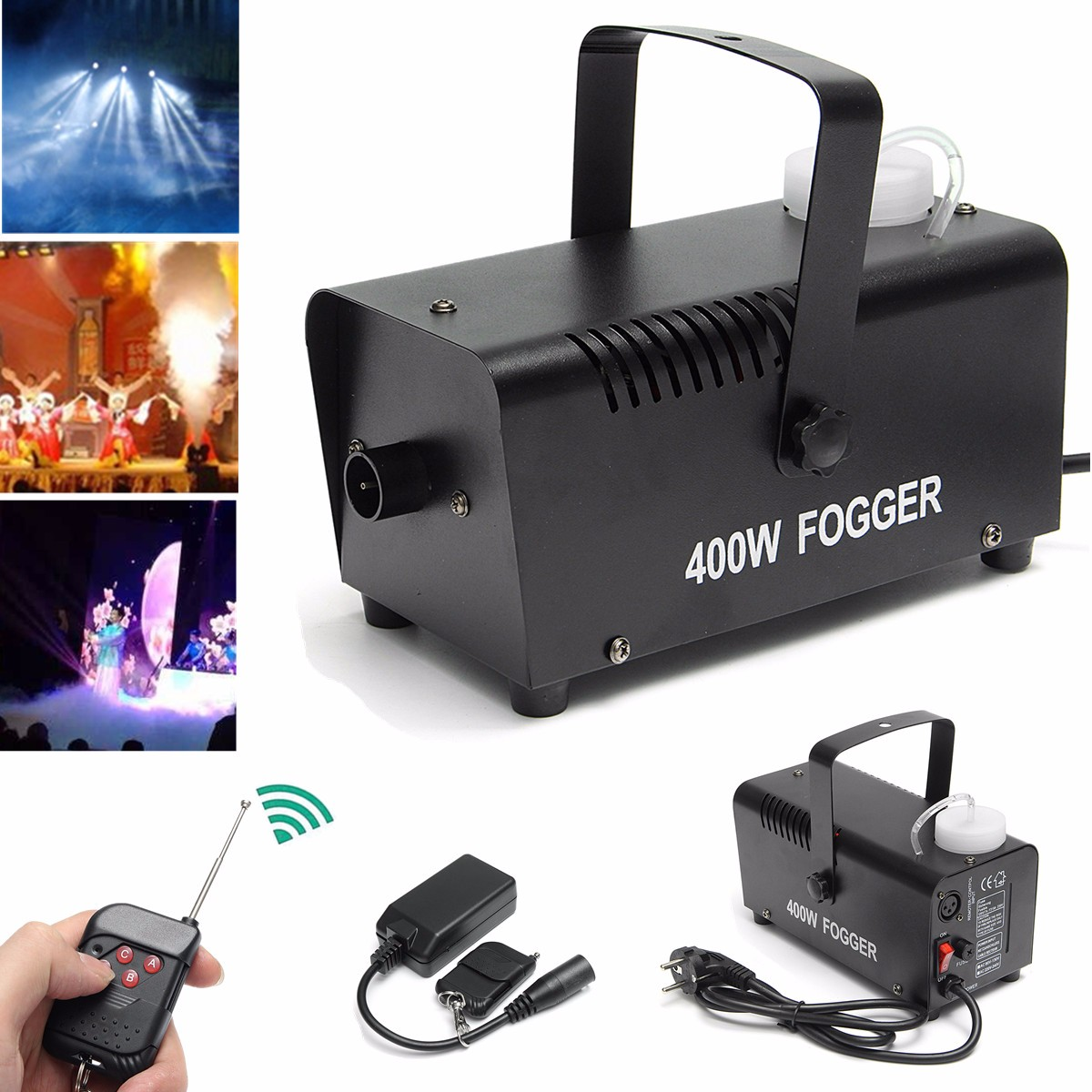 Mini LED RGB Wireless 400W Fog Smoke Mist Machine Effect Disco DJ Party Christmas With Remote Control LED Fogger