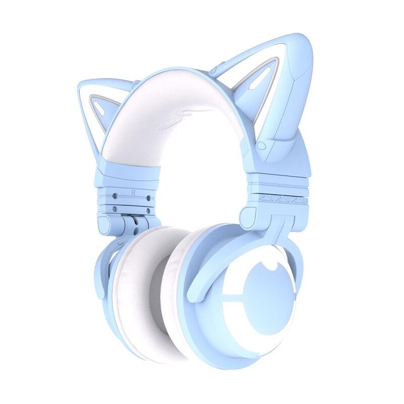 Yowu Headphone Nirkabel Kucing Lucu 3g Kontrol Aplikasi Lampu Rgb Headset Telinga Kucing Anak Perempuan Casco Kualitas Tinggi Untuk Ponsel Komputer Gaming Earphone Headphone Aliexpress