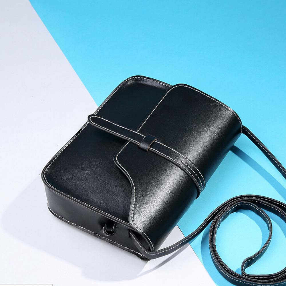 Nieuwe Vintage Vrouwen Flap Mode Casual Lederen Schoudertassen Lady Crossbody Messenger Bag Elegante Envelop Clutch Purse