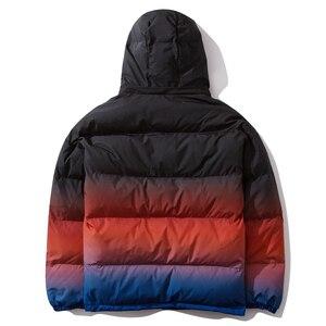 Image 2 - Aelfric Eden Hip Hop Gradient Removable Mens Hooded Parkas Casual Warm Padded Jacket Coats 2019 Harajuku Windbreaker Streetwear