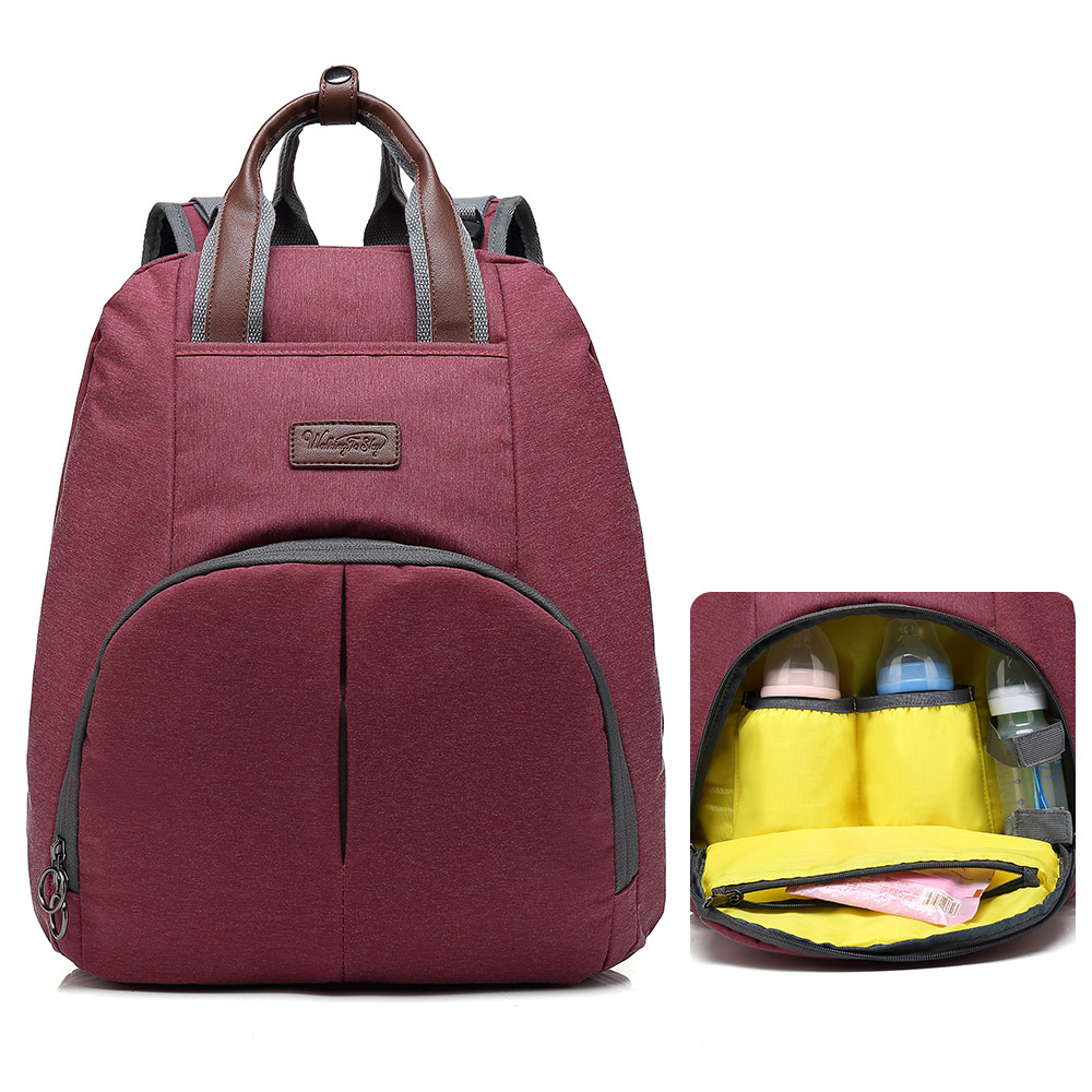 New Style Diaper Bag Multi-functional MOTHER'S Bag Nursing Baby Fashion Mommy Bag Aiaper Backpack Currently Available Wholesale
