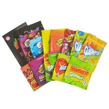 Sacos de empacotamento do zíper do saco dos doces dos gushers do sour 400-500-600mg malotes do urso gummy no estoque 100 pces