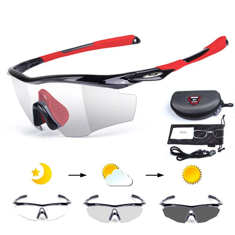 5 teile/satz Photochrome Radfahren Gläser Bike Fahrrad Brillen Männer Frauen Outdoor Sport MTB Sonnenbrille Brille Myopie Rahmen