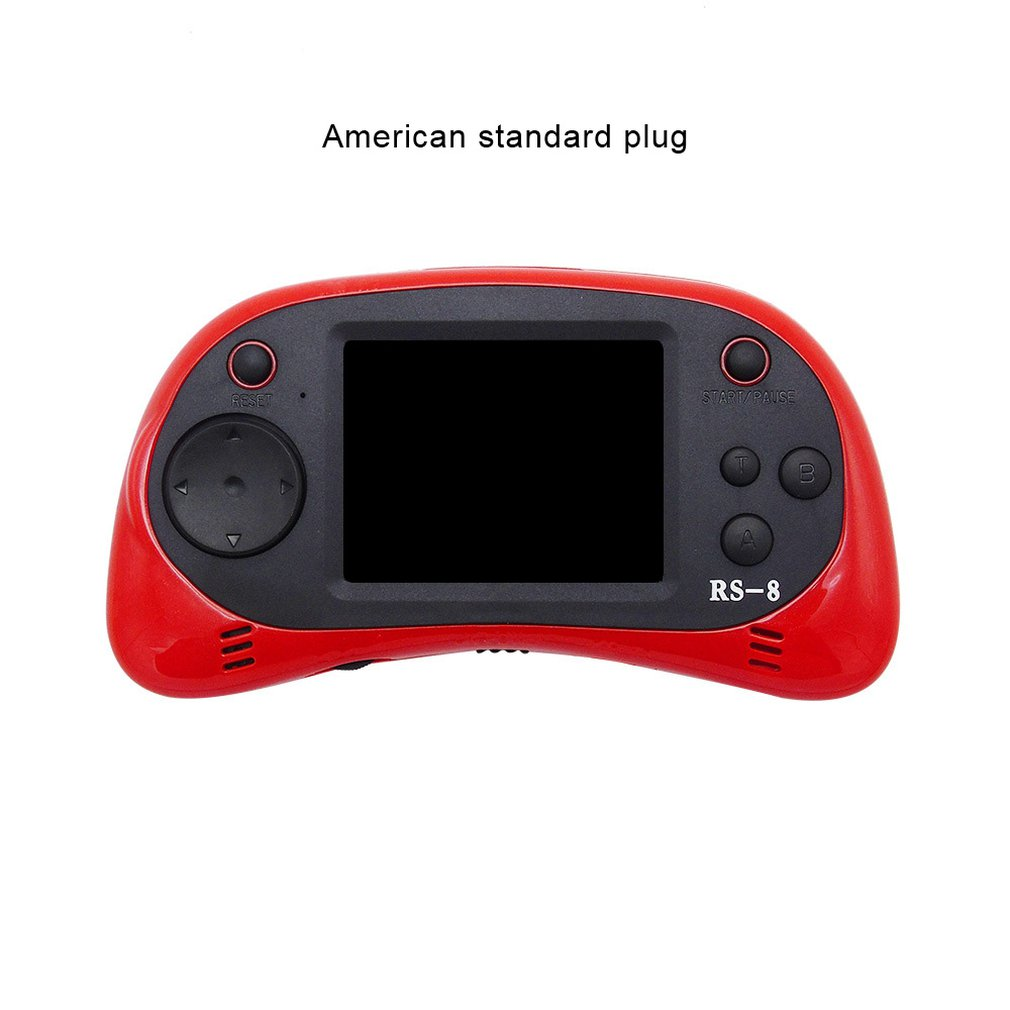 RS-8X Handheld Video Game Console Player Family Recreation Gaming System Built-in HD TV AV Output Games