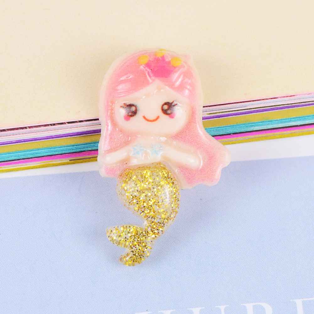 10 Pcs Creative Resin Glittering Mermaid Slime Filling Material Accessories Kids Craft Toy Mobile Phone Case DIY Accessories